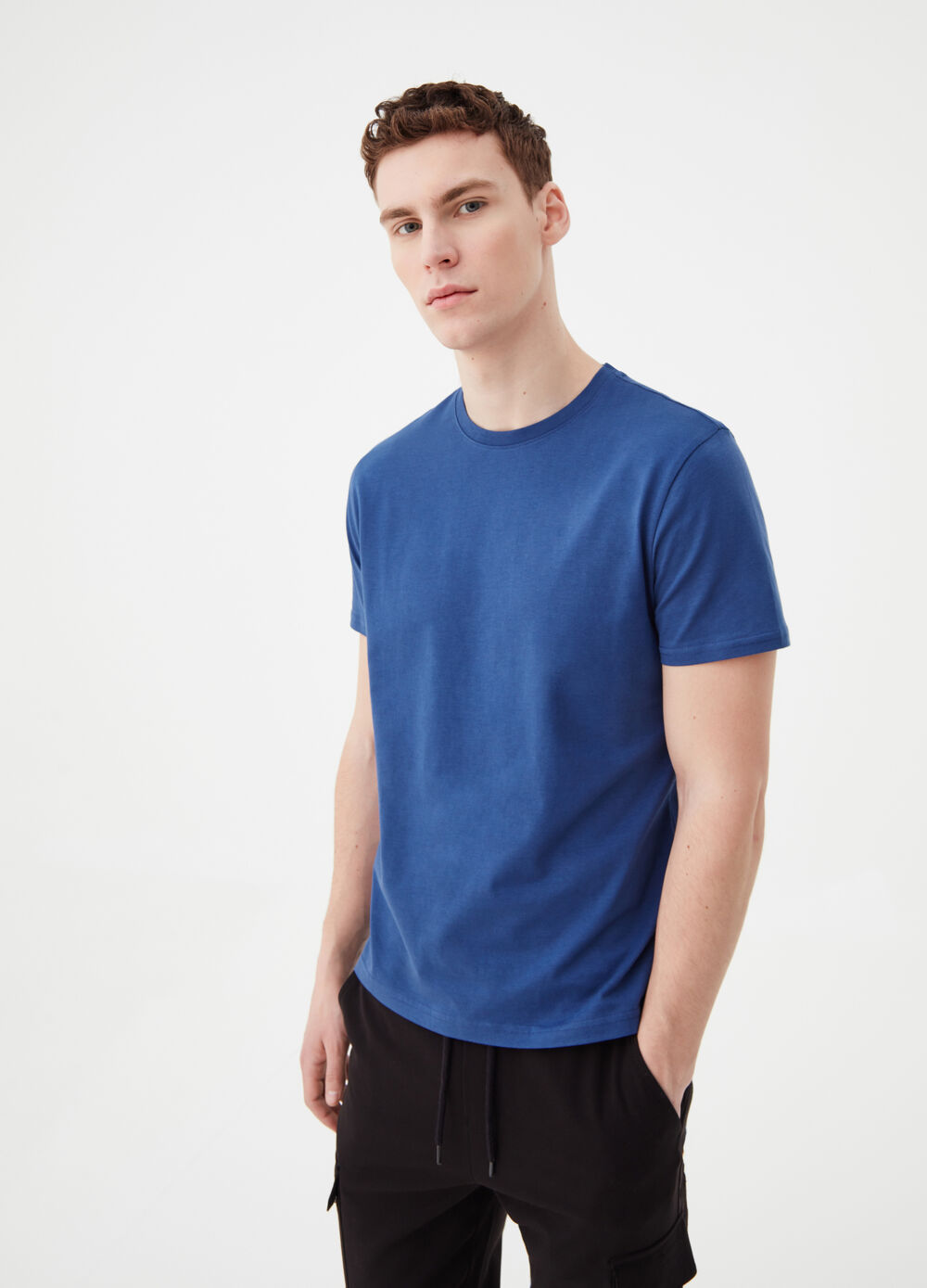 T-shirt in 100% pima cotton jersey
