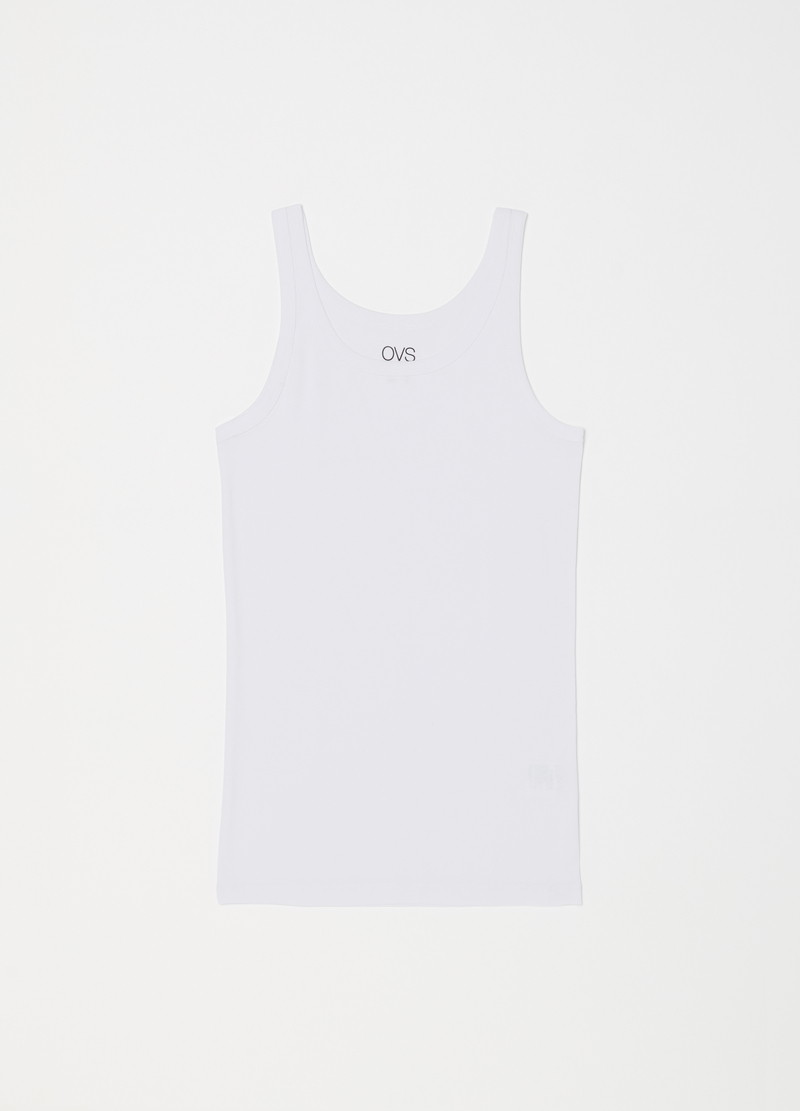 Two-pack ribbed racerback tops in 100% cotton image number null
