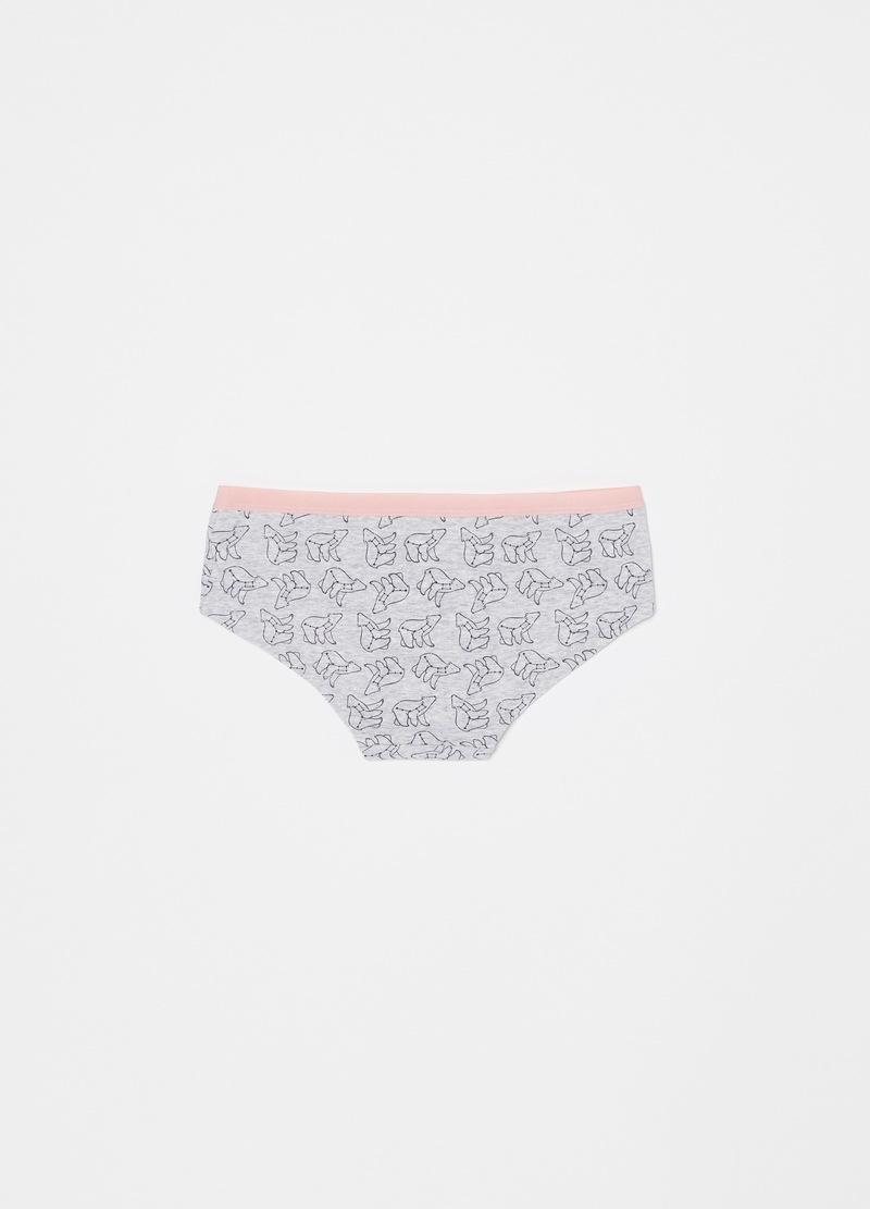 Stretch French knickers with constellation pattern image number null