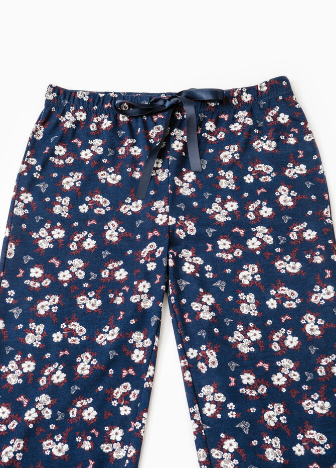 Pyjama trousers with floral print