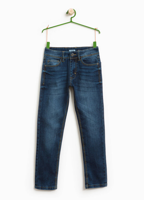 Worn-effect straight-fit jeans   OVS