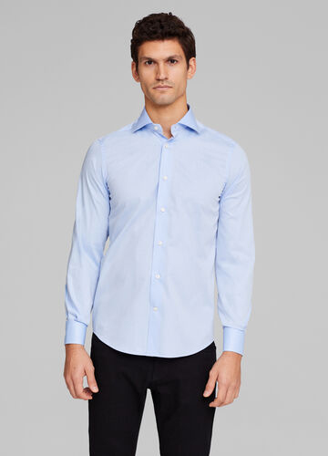 Solid colour slim fit formal shirt