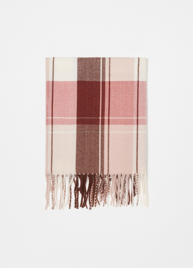Scarf with check pattern image number null