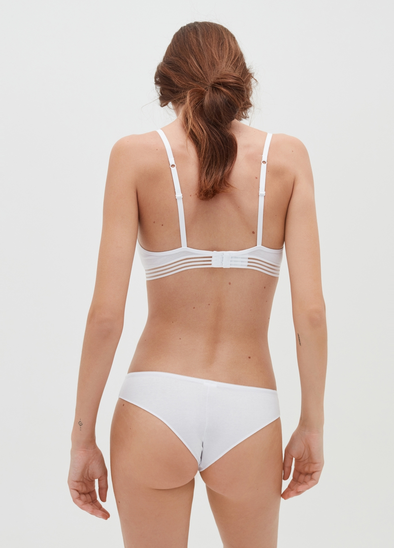 Cotton triangle bra without underwiring image number null