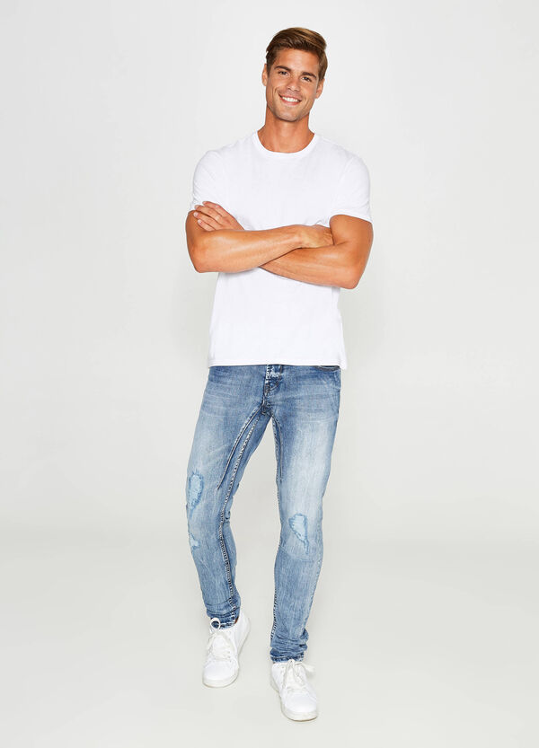 Ripped, skinny-fit stretch jeans   OVS