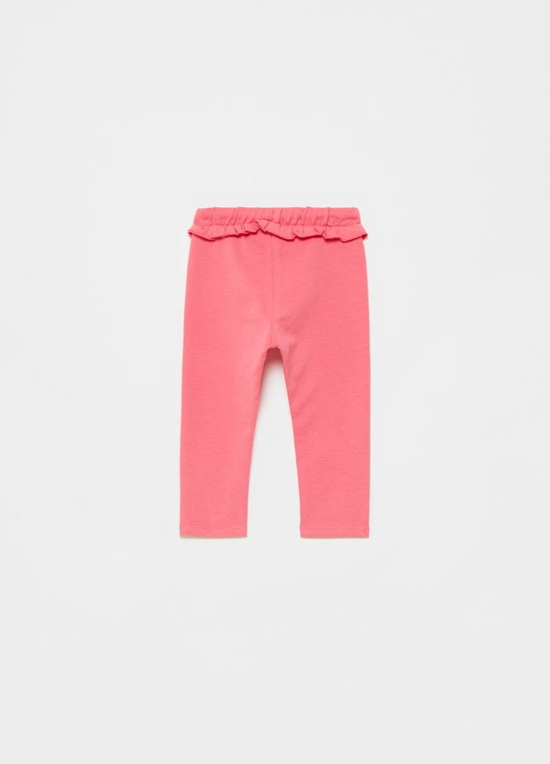 Treggings in cotone stretch con rouche image number null