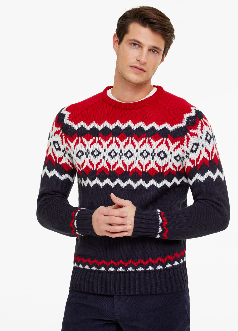 Christmas sweater with round neck