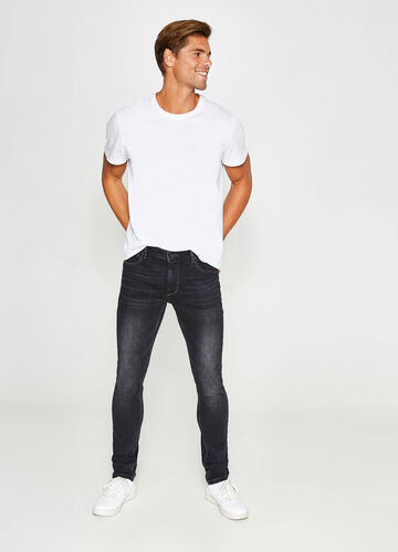 Jeans skinny fit stretch effetto used