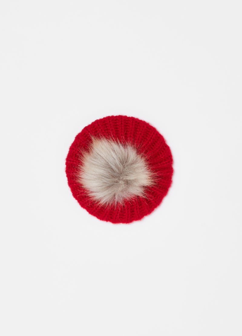 Puff hat with pompom image number null