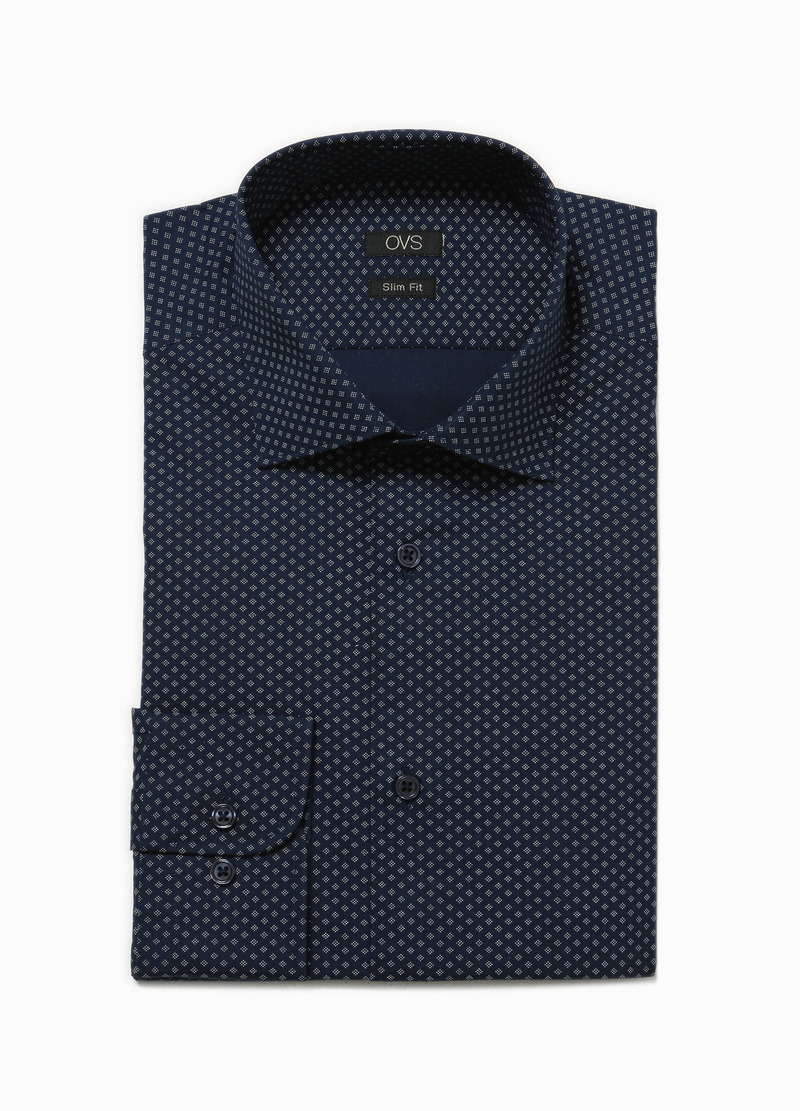 Camicia formale slim fit geometrica image number null