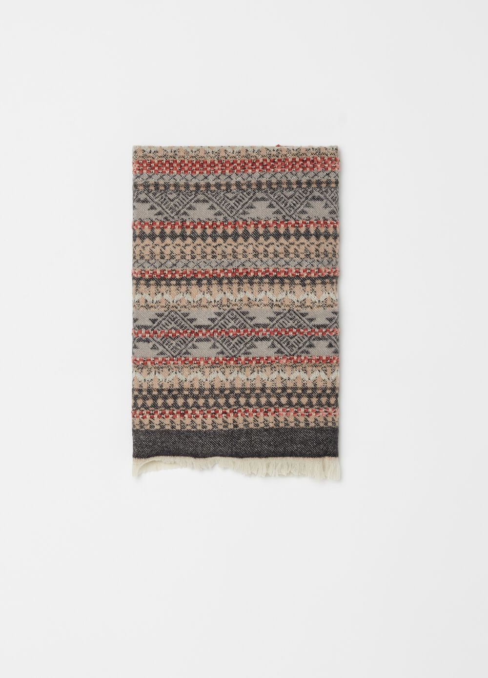 Patterned pashmina in textured fabric