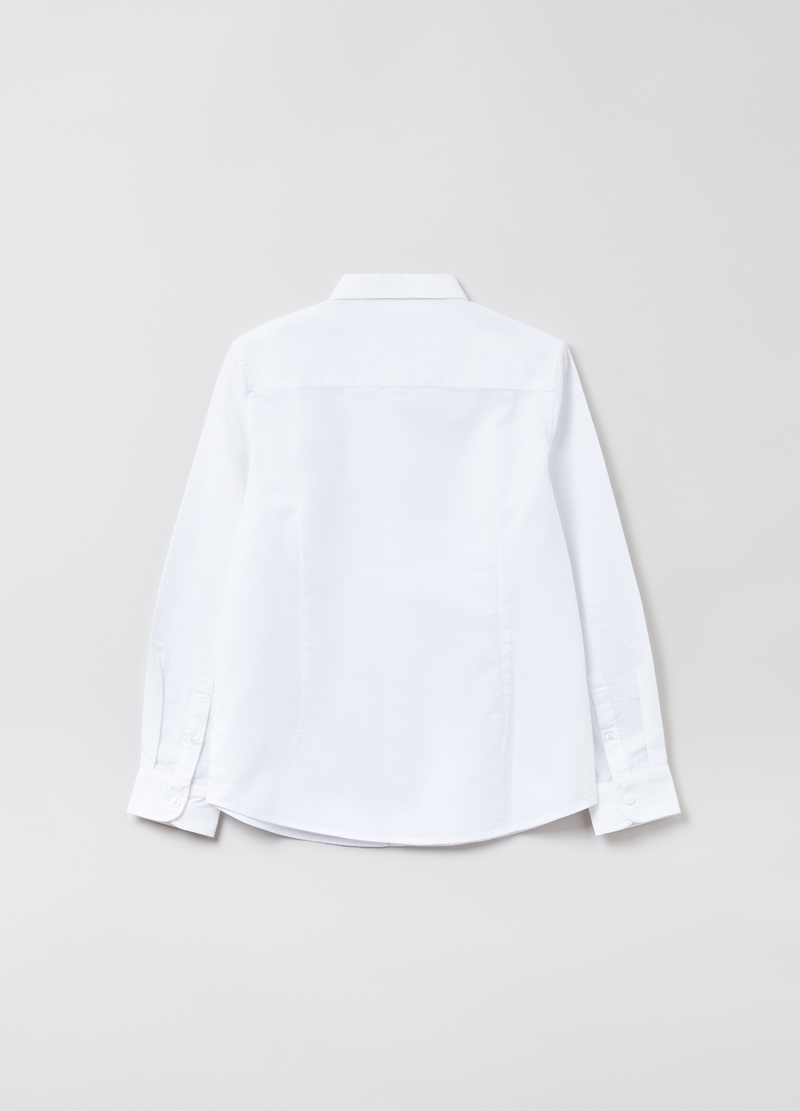 Cotton shirt with button-down collar image number null