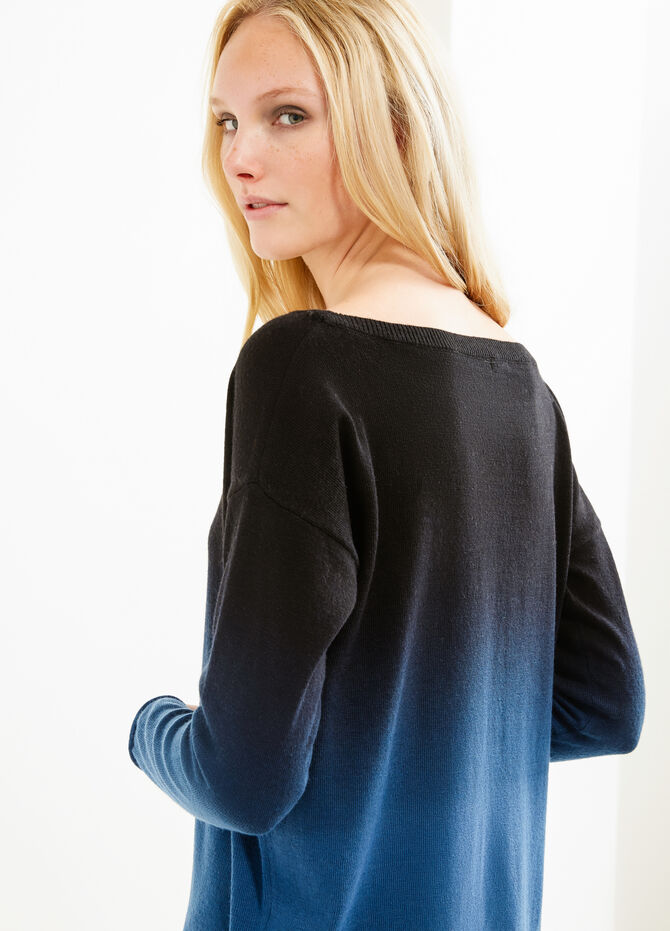 Wool blend degradé pullover