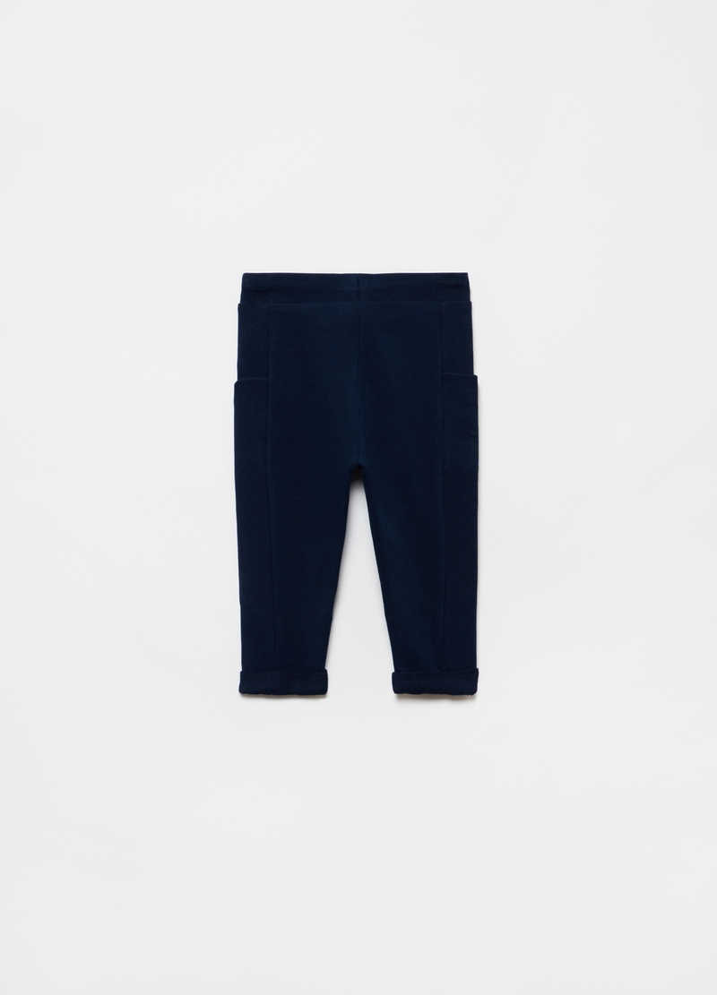 Joggers in 100% organic cotton with pockets image number null