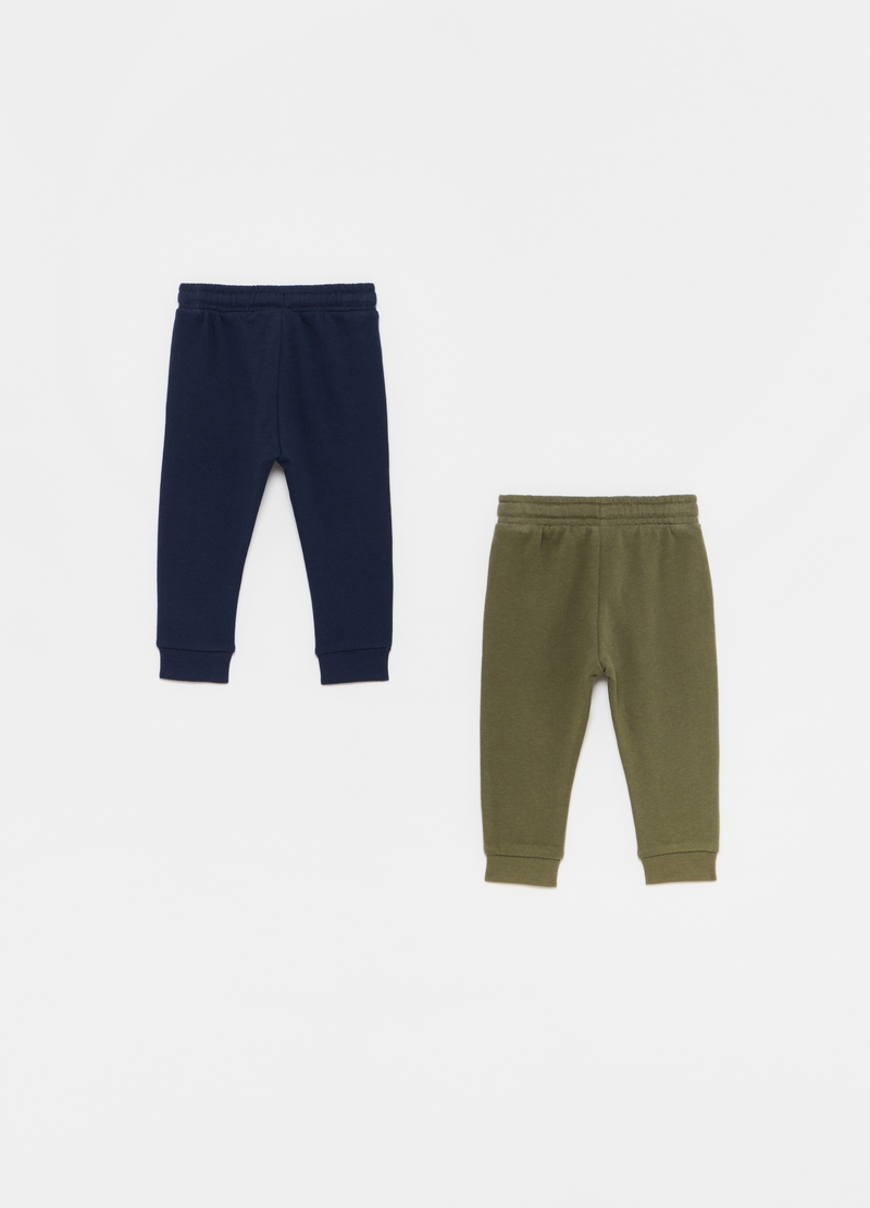 Two-pack 100% organic cotton joggers image number null