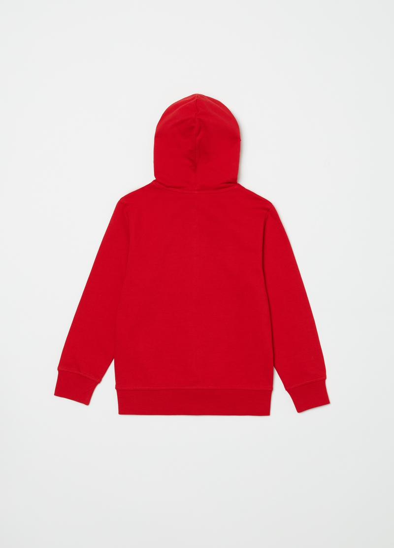 Sweatshirt in 100% cotton with print and hood image number null