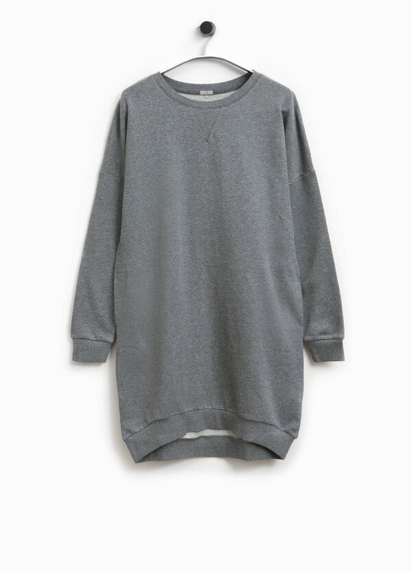 Smart Basic long 100% cotton sweatshirt | OVS