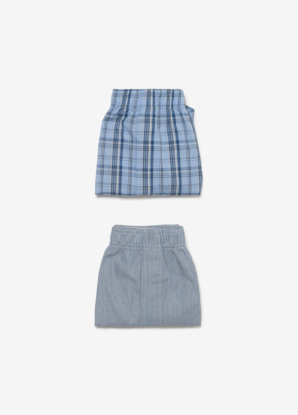 Two-pair pack cotton blend canvas boxers