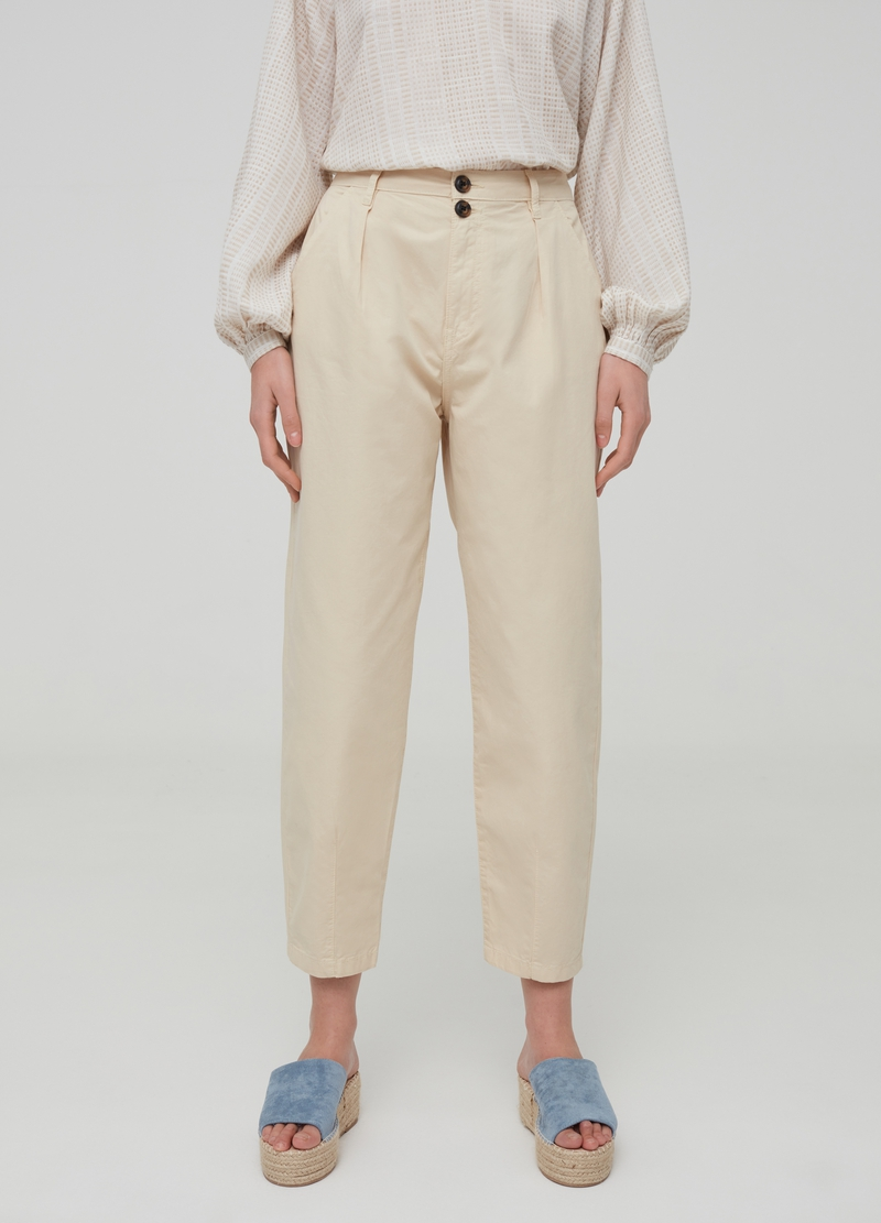 100% cotton wide-fit trousers image number null