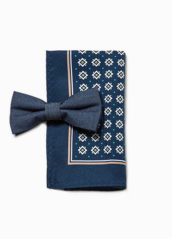 Bowtie and patterned pocket handkerchief set | OVS