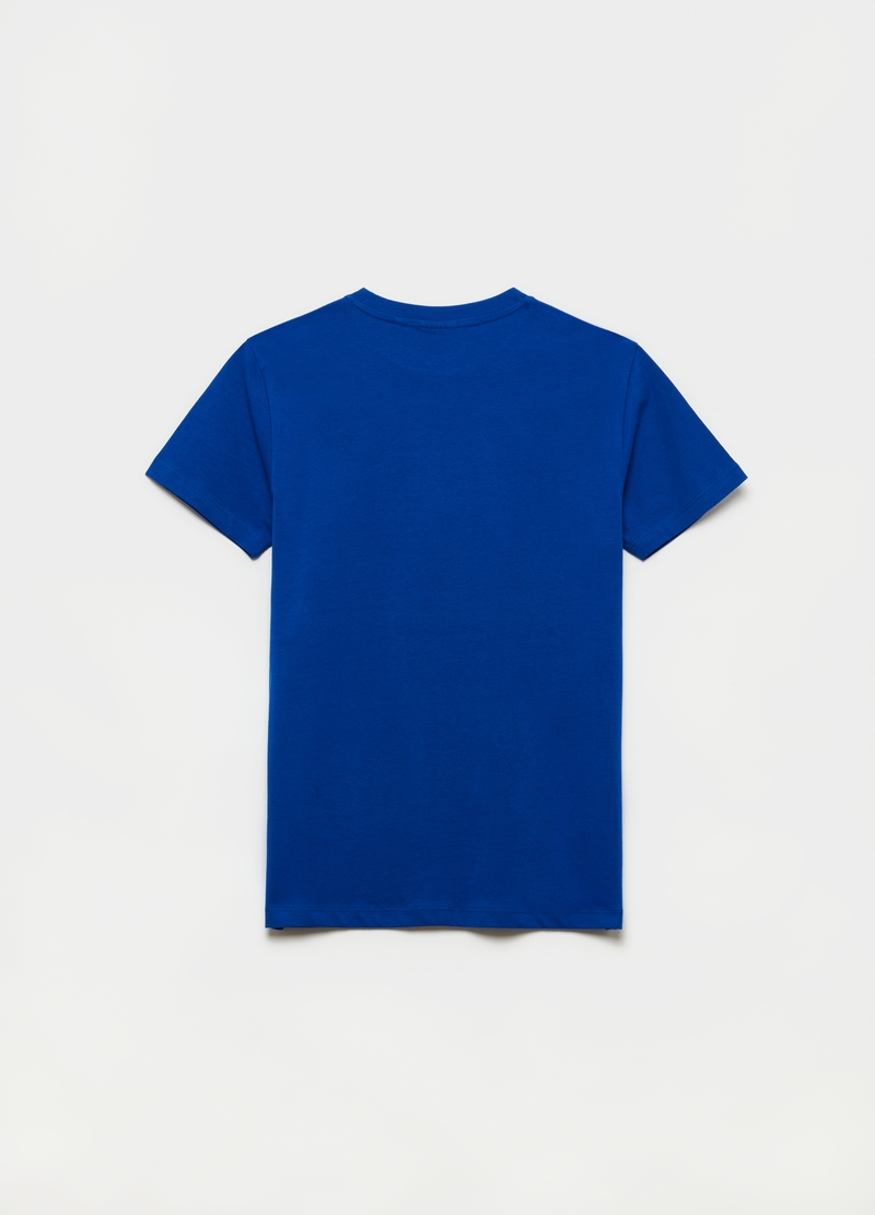 Cotton T-shirt with print and lettering image number null