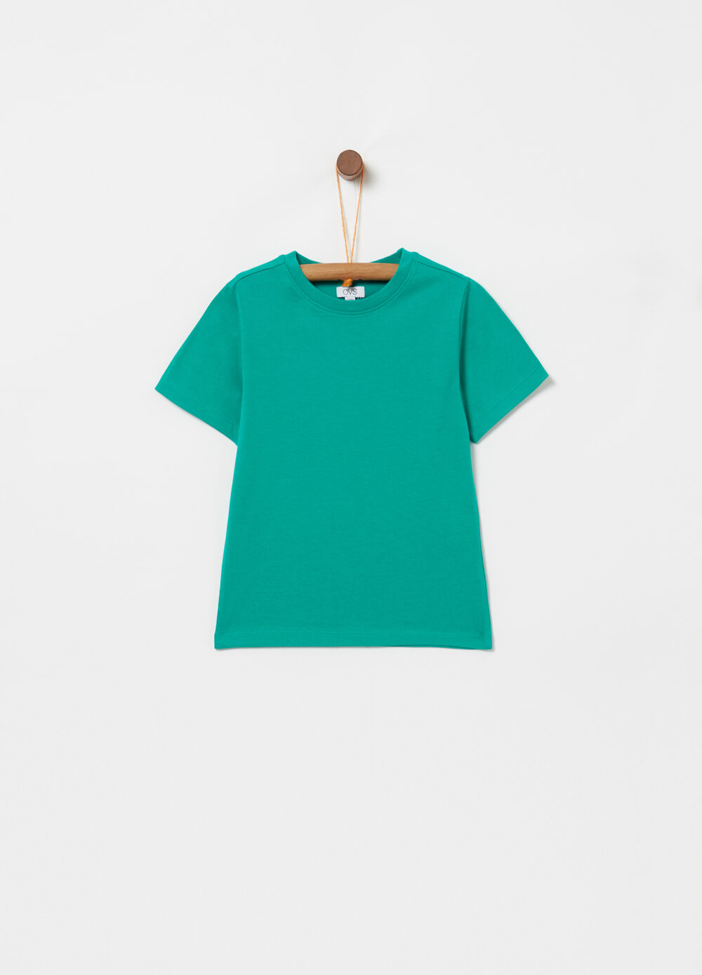T-shirt biocotton con costina