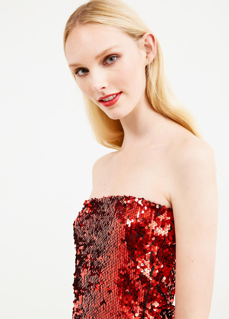 Sleeveless top with sequins image number null