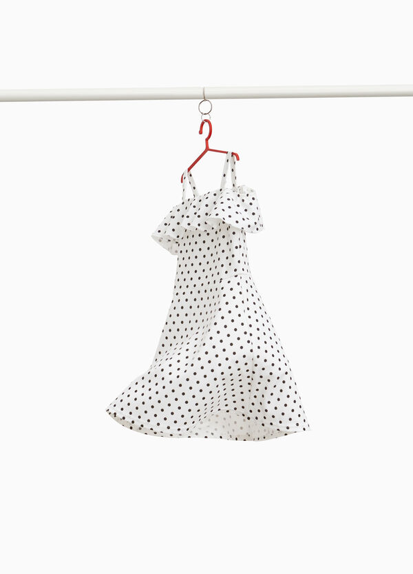 Polka dot pattern stretch dress