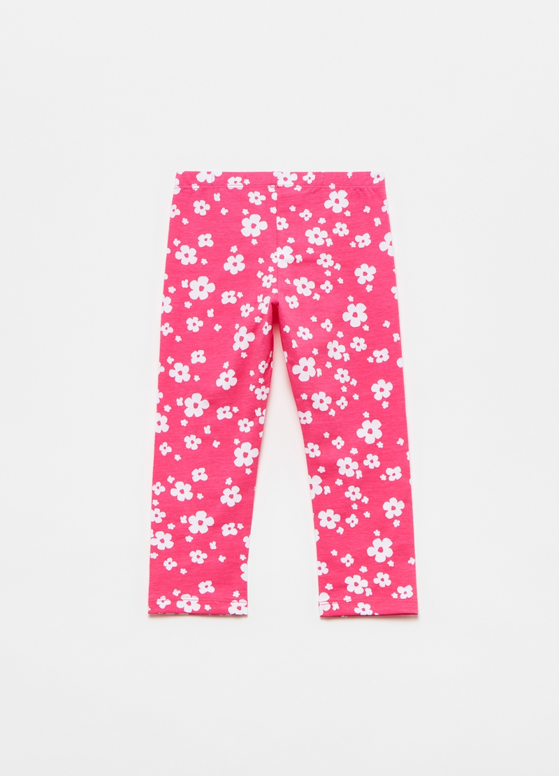 Crop leggings with floral print image number null