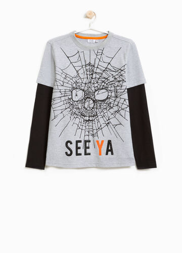 T-shirt cotone stampa halloween