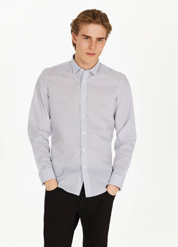 Cotton blend patterned casual shirt