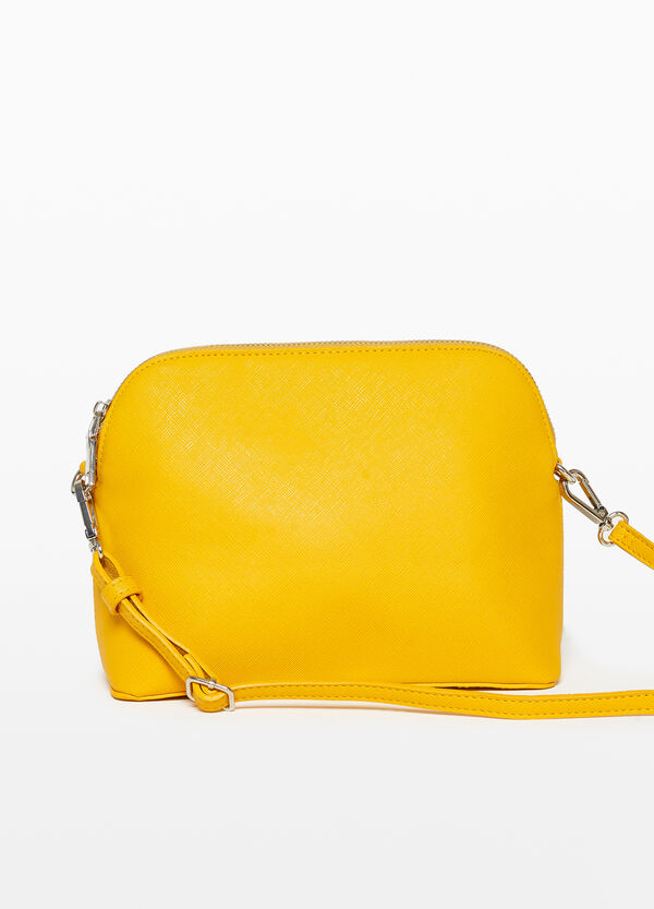 Saffiano-effect shoulder bag
