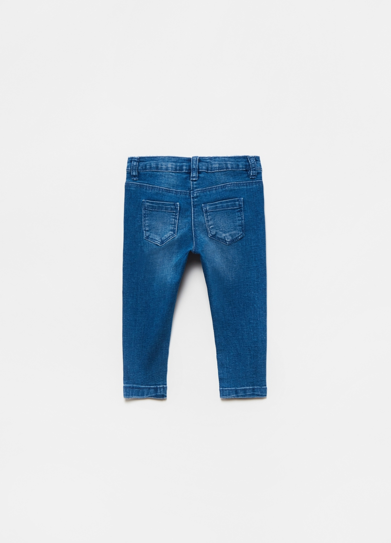 Jeans stretch con strass image number null
