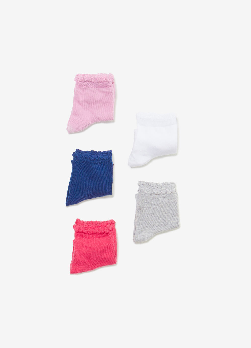 Five-pair pack stretch short socks