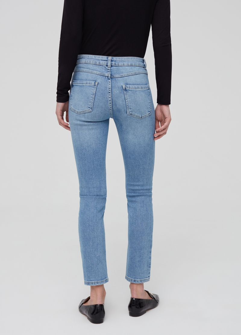 Misdyed effect slim-fit stretch jeans image number null
