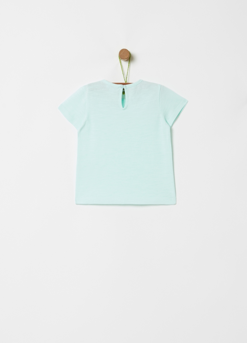 T-shirt puro cotone bio stampa lettering image number null