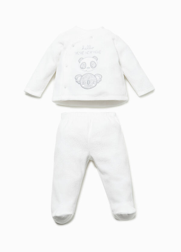 T-shirt with patch and baby leggings set | OVS