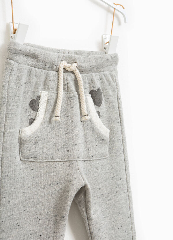 Mélange trousers with drawstring | OVS