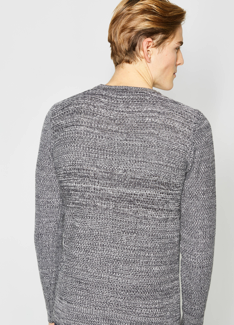 Pullover mélange girocollo image number null