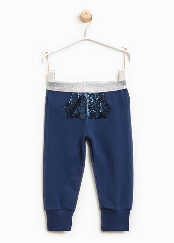 Joggers with sequinned pocket