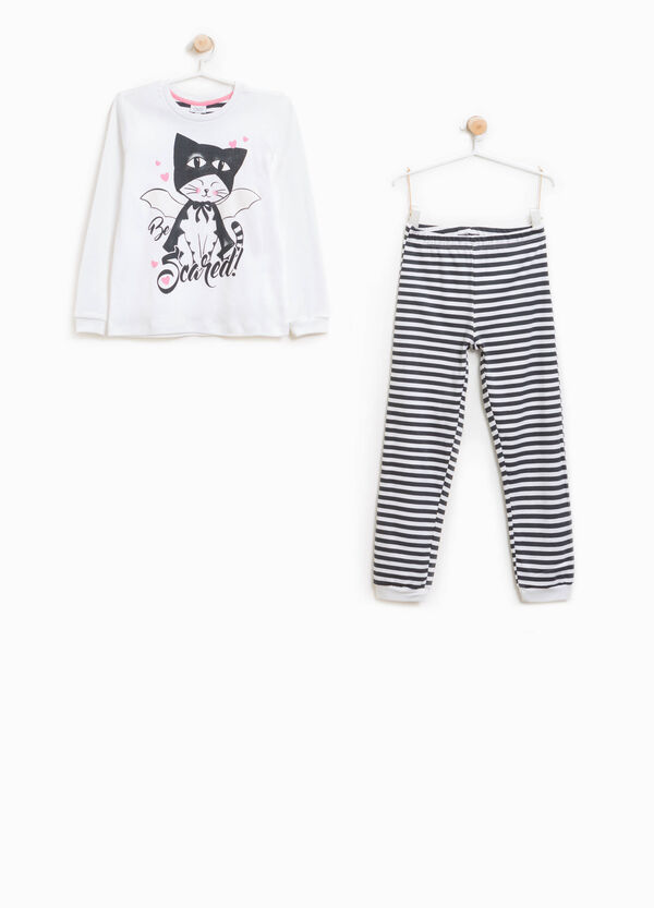 Better Cotton pyjamas with striped print | OVS