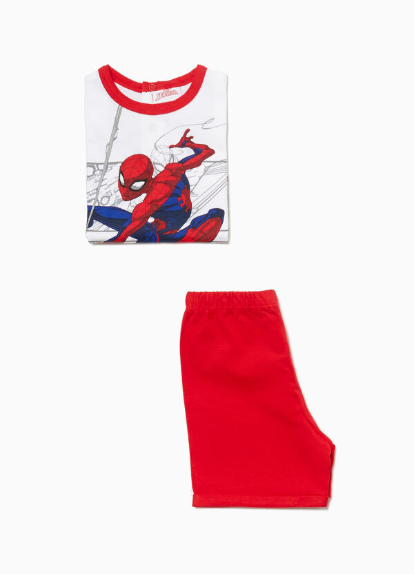 Pigiama in cotone stampa Spiderman