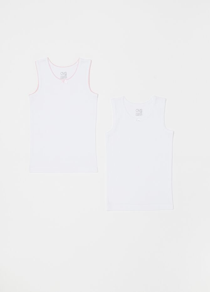 Two-pack 100% organic cotton under tops