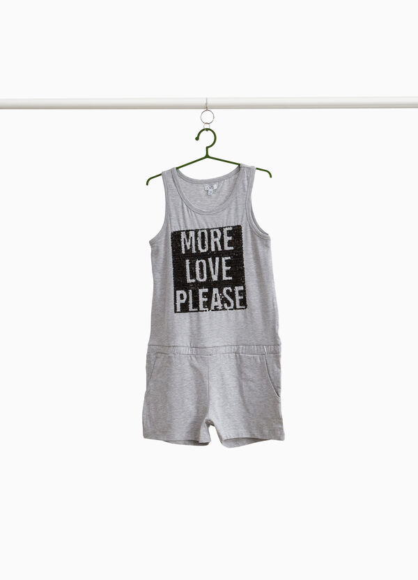 Sleeveless pinafore in stretch cotton