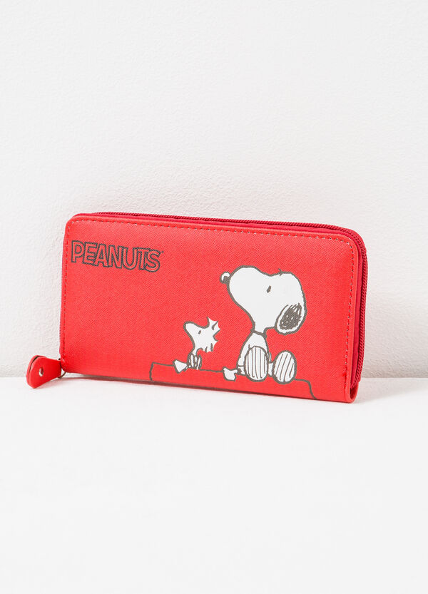 Wallet with Peanuts print