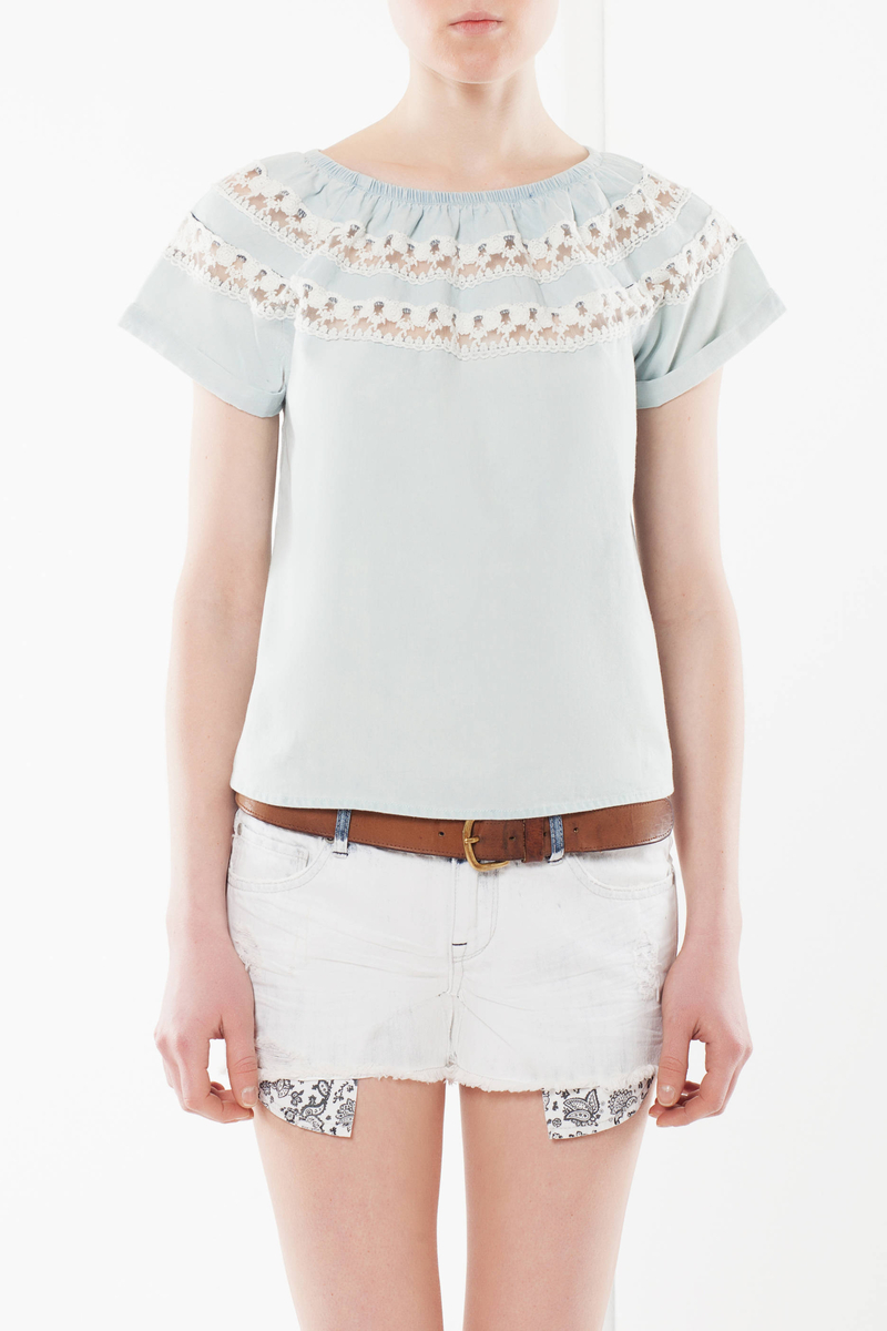 T-shirt with openwork details image number null