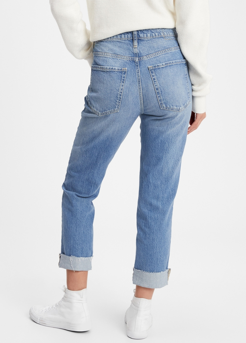 GAP mum-fit jeans with fold image number null