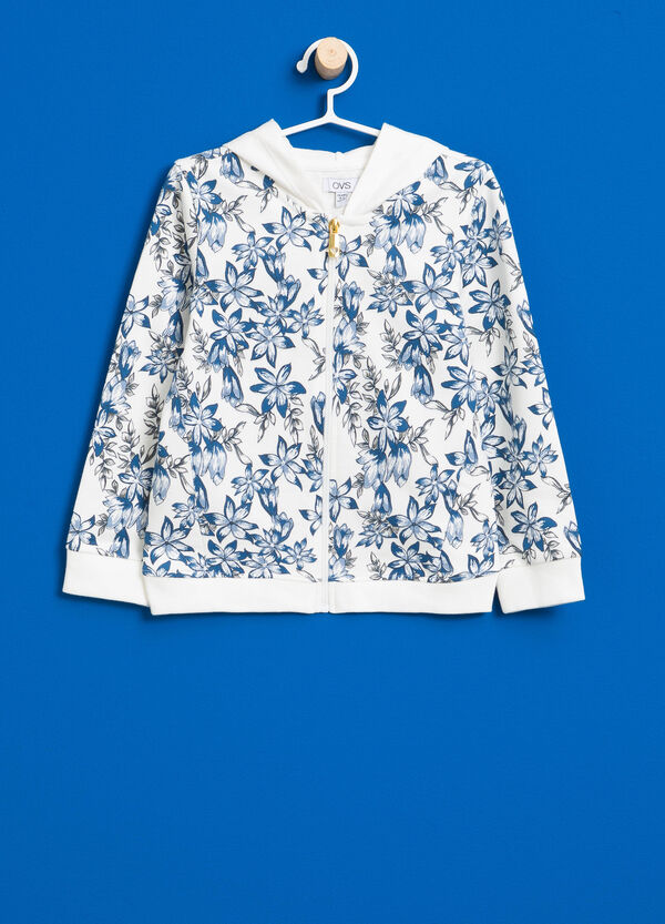 100% cotton floral sweatshirt | OVS