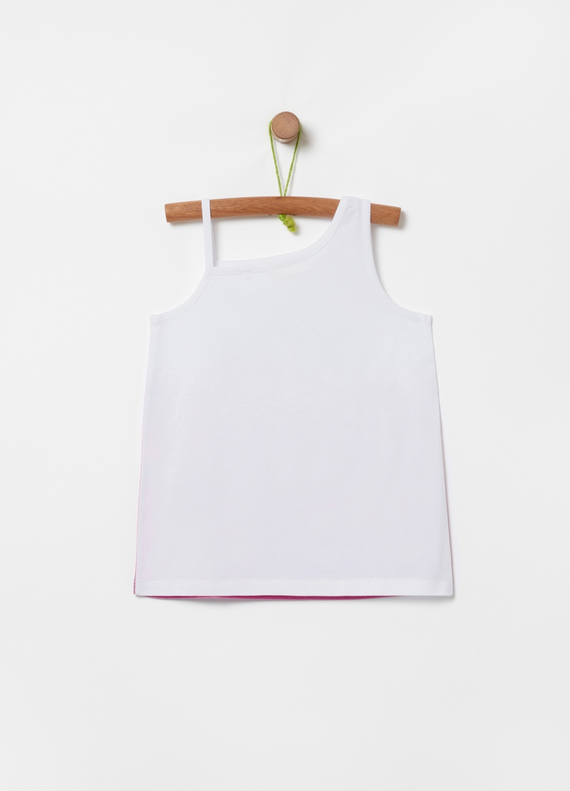 Degradé tank top with sea print image number null