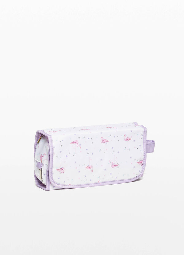 Folding printed beauty case